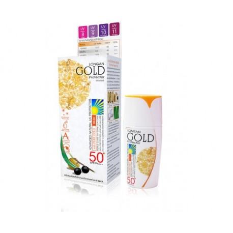 ลำไย โกลด์ ยูวี โปรเทคเตอร์ SPF50/PA+++ สูตรสีขาว สำหรับผิวขาว-ผิวสีอ่อน